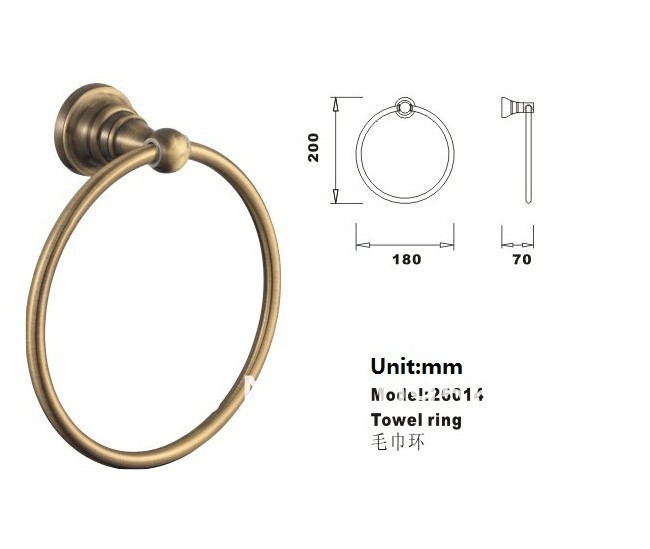 Towel Ring/Towel Holder,Solid Brass Construction, Antique Bronze finish,Bathroom Accessories,MAIDEER apl 6411 12 bathroom classic brass paper holder towel ring with lotus carving base bronze