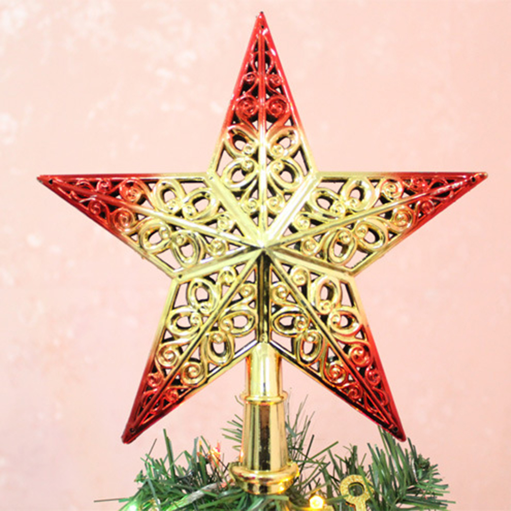 Christmas Tree Ornaments Outdoor Colourful Star New Year ...