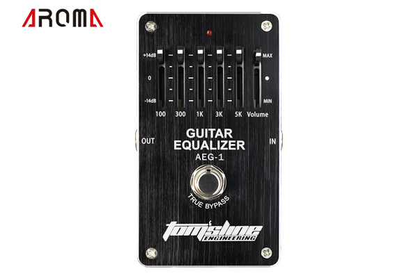 AROMA AEG-1 Guitar 5-band EQ 5 bands equalizer pedal for guitar. + -14dB Volume control Low power   Premium Analogue Effect aroma aeg 3 gt eqanalogue 5 band equalizer guitar effect pedal mini volume with true bypass volume control guitar parts