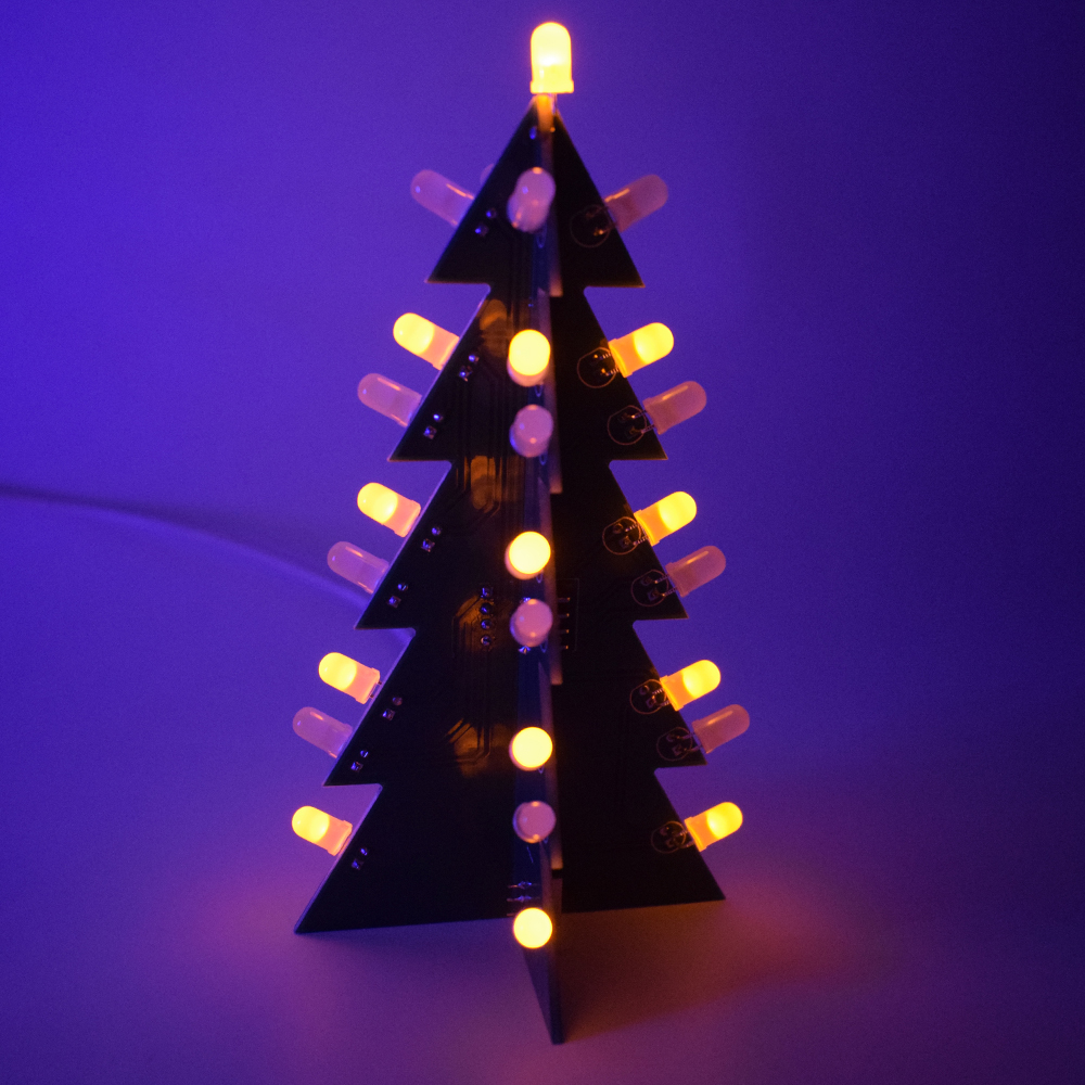 Diy star flashing 3d led light decoration christmas tree electronic 1 diy 3d christmas tree making kit solutioingenieria Image collections