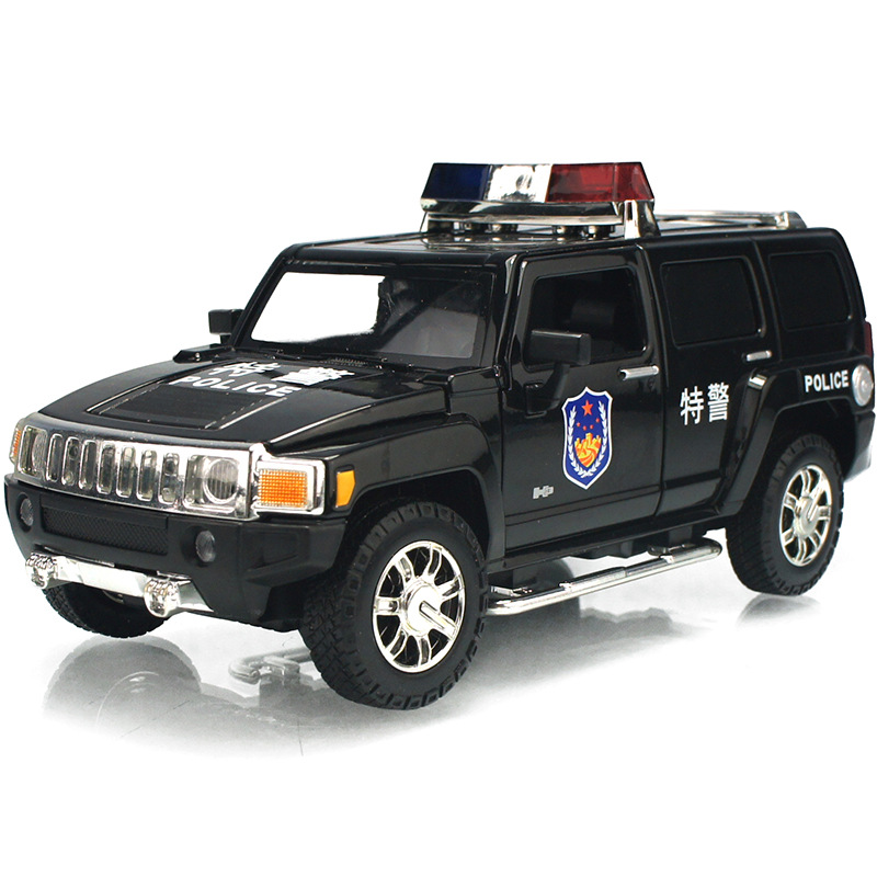 High Simulation Exquisite Diecasts & Toy Vehicles: CaiPo Car Styling Hummer H3 Police CCar 1:24 Alloy Diecast SUV Model Toy Car
