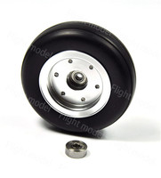 1pcs 3.5 Rubber Wheel Aluminum Hub with Wheel Adapter Rubber Tire For Model Aircraft RC Airplane