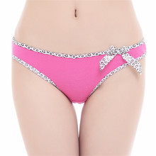 Underwear Women 2016 Sexy Panties Thongs And G Strings Cotton Female Sexy Floral Print Lingerie Hot Sale G String Panty N836