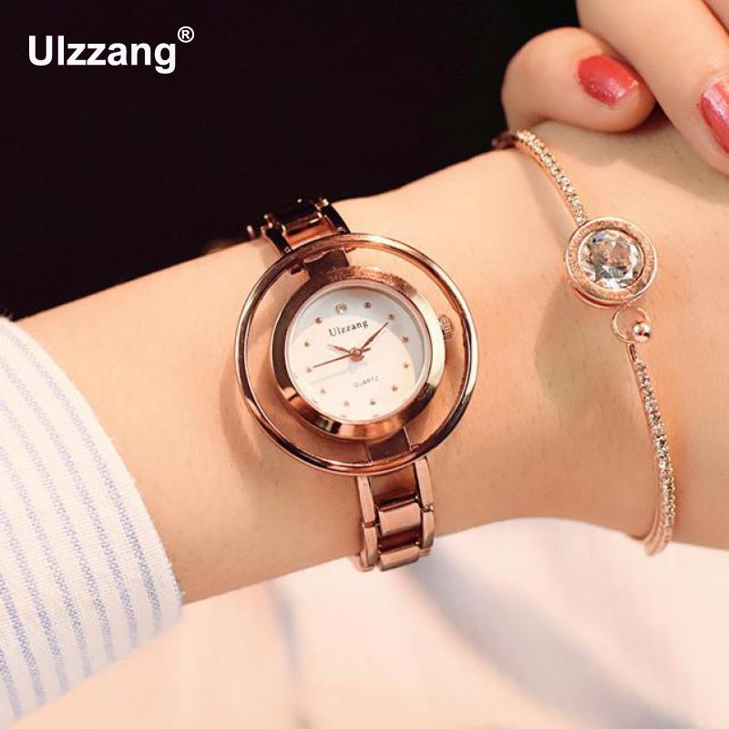 Fashion Unique Skeleton Hollow Band Women Quartz Wristwatches Luxury Ladies Dress Leisure Watch Female Clock Hours