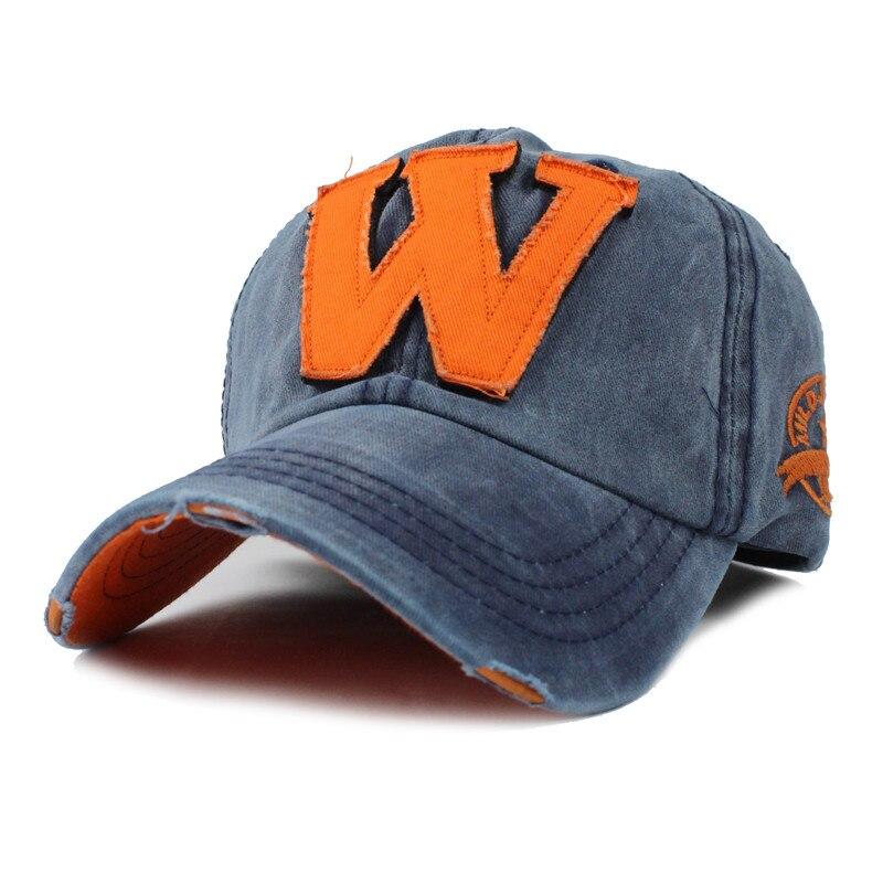de336bcd3fb Dropwow  FLB  Cotton Embroidery Letter W Baseball Cap Snapback Caps ...