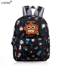 LXFZQ 4 colors school bags waterproof Children's backpack Satchel lovely backpack for children Orthopedic backpack school bag(China)