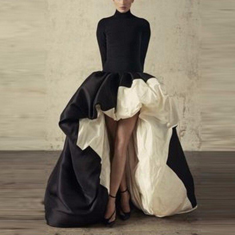 2 Colors Formal   Dresses   Long Sleeves A-line abendkleider Party Gowns Formal Wear Vestido De Festa   Evening     Dress   Long abiye