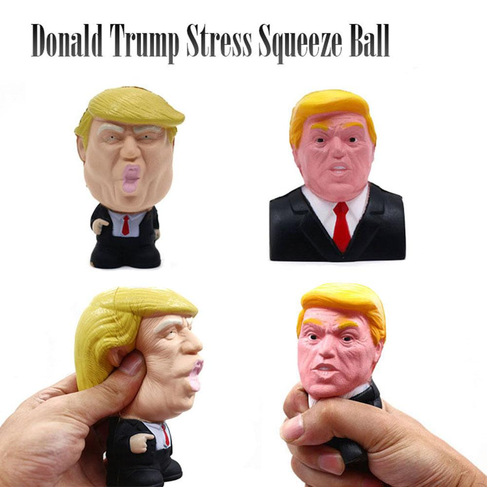 Donald Trump Stress Squeeze Ball Jumbo Squishy Toy Cool Novelty  Slow Rising Kawaii Antistress Squishy Toys