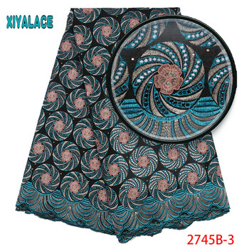 African Swiss Cotton Lace Fabric High Quality Dry Cotton Lace Fabric Embroidery Soft Swiss Voile Llace For African Women 2745b