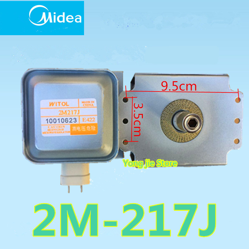 Genuine original microwave Oven Magnetron for midea WITOL 2M217J magnetic tube genuine original microwave oven magnetron for midea witol 2m219j magnetic tube disassemble 9 into a new 5 microwave ovens mica