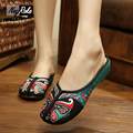 Summer Chinese style home Slippers women shoes Peking Opera embroidery sandals women Casual shoes mujer slides zapatillas