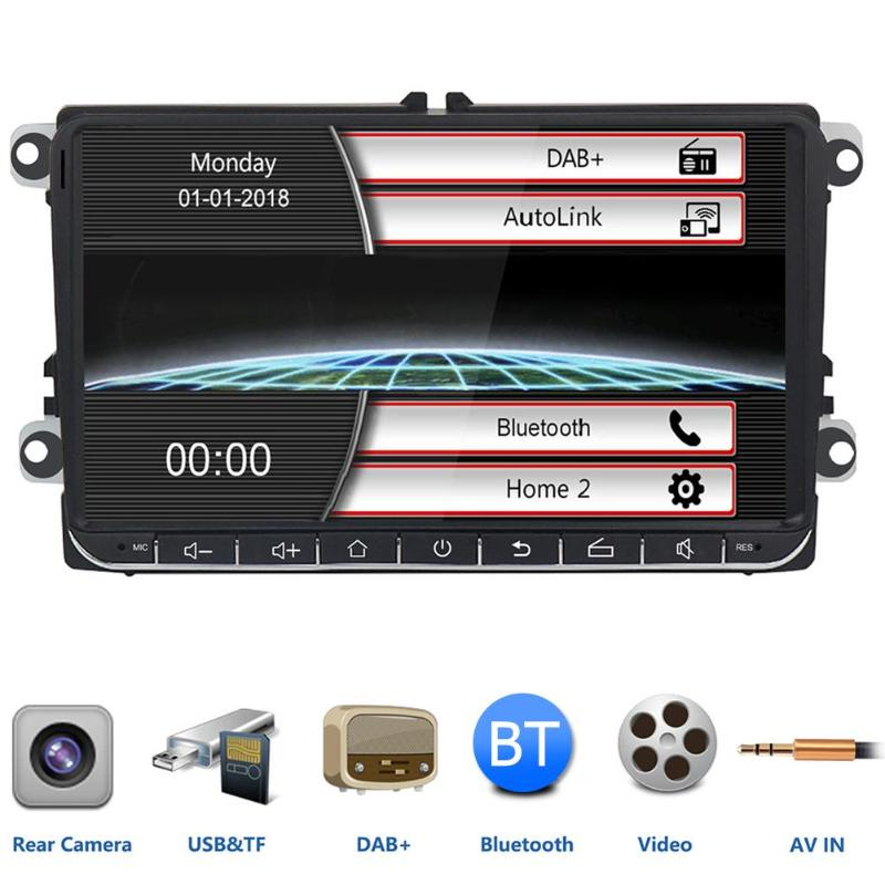2 DIN DAB + autoradio 9 pouces CANBUS Bluetooth autoradio pour Passat Golf MK5 MK6 Jetta T5 EOS Touran Seat Sharan