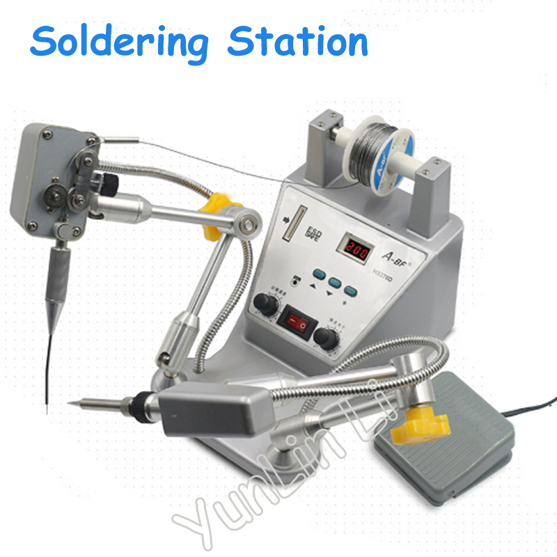 Automatic Tin Spot Welder Pedal Tin Soldering Machine Tin Soldering Robot High Precision Digital Iron Soldering Gun HS376D