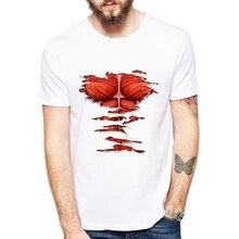 Attack On Titan t shirt men fashion Titan boy Printed t-shirt Young tee white tshirt Funny design