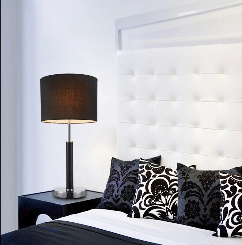 bedroom lamps contemporary modern black white table lamp light bedroom decoration 10508