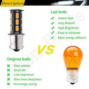 Image 5 - 10Pcs BAU15S LED Auto Lights Bulbs 5630 18SMD Amber Orange PY21W RY10W Car Coche Voiture Lampada Turn Signal Light Bulb Lamp 12V