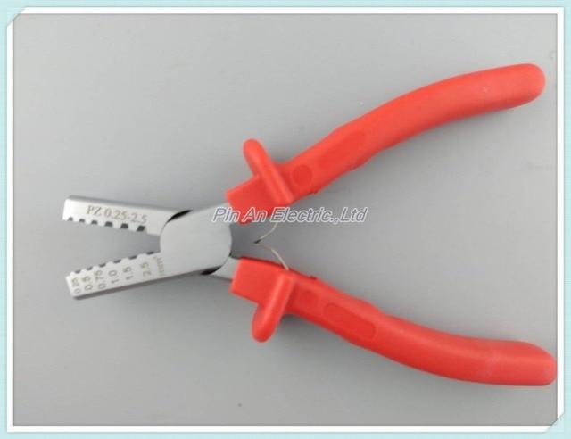 PZ 0.25-2.5 Alemania Estilo Pequeño Alicates Que Prensan para virolas de cable, herramienta que prensa terminal de