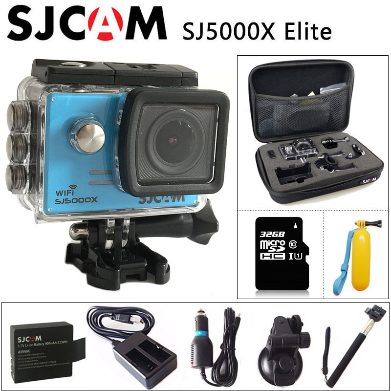 цены  Original SJCAM SJ5000X Elite Gyro Sport Action Camera WiFi 4K 24fps 2K 30fps Diving 30M Waterproof NTK96660 SJ CAM Sports DV