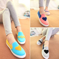 Spring and summer candy color low style women canvas shoes women's shoes casual flats ladies shoes