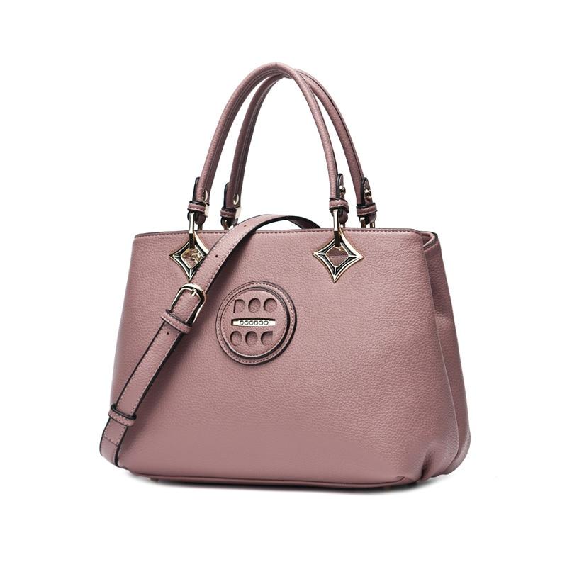 ФОТО Doodoo Women's New Trend Textured Leather Tote Bag Satchel Handbag Ladies Purse Casual Crossbody Bag Fashion Shoulder Bag