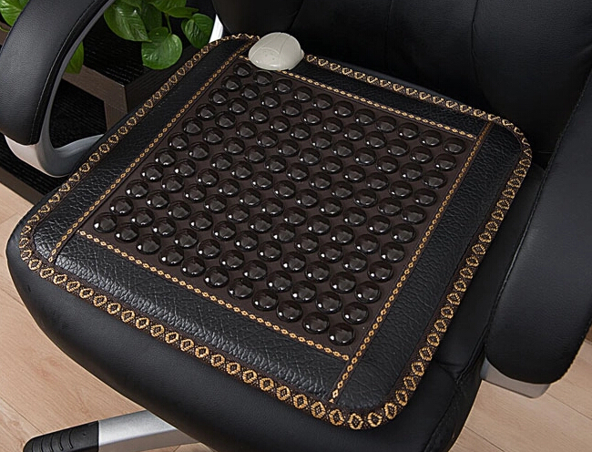HOT Jade Heat Therapy Products Healthy Black Germanium Cushion Thermal Massage Jade Seat Cushion Pad For Sale Free Shipping 2017 hot product free eye cover china wholesaler germanium thermal heating jade cushion free shipping 50 150cm