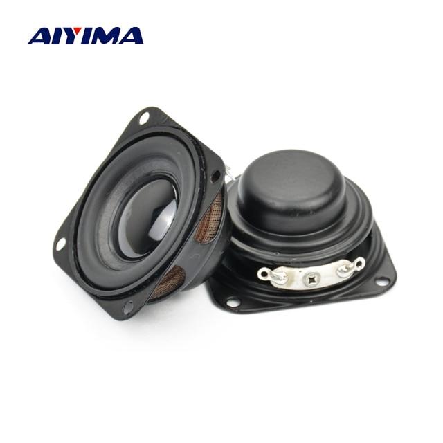 AIYIMA 2Pcs Subwoofer 40MM 1.5Inch Bass Speaker 4Ohm 3W Neodymium Magnetische Bass Multimedia Luidsprekers Diy Audio luidsprekers