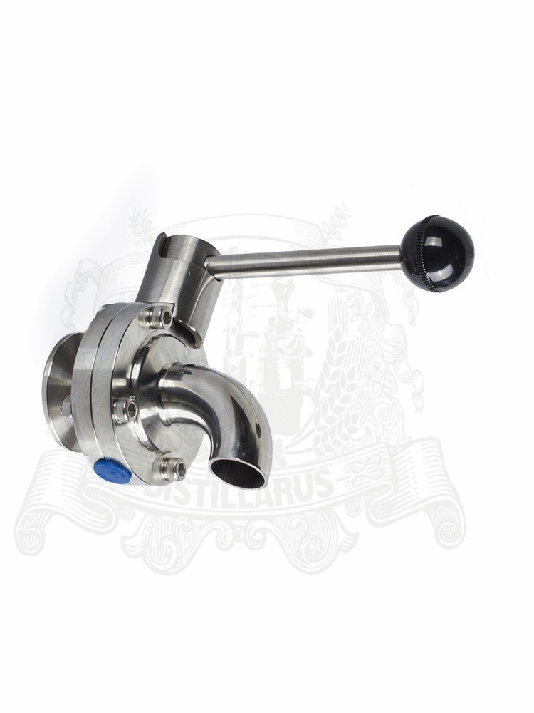 Tri-clamp 1.5 - 2  Butterfly valve . Food grade stainless steel 304Tri-clamp 1.5 - 2  Butterfly valve . Food grade stainless steel 304