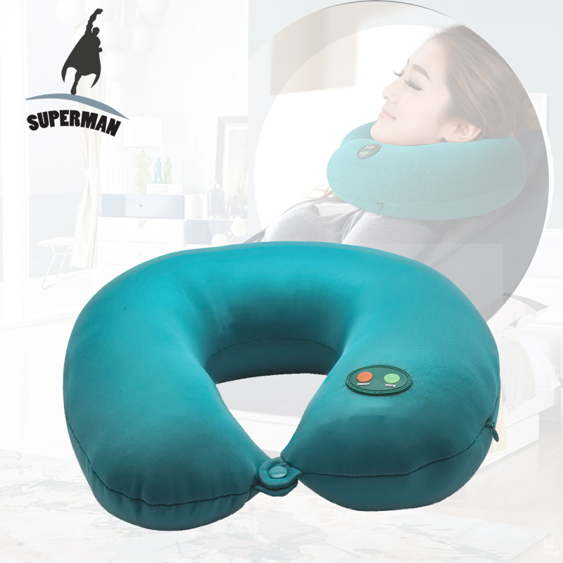 Superman Electric massage neck blue pillow cervical memory foam pillow for travel and car memory foam space pillow slow rebound magnet therapy throw pillows neck cervical healthcare neck pillow ostrich pillow 30 x 50cm