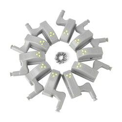 BORUiT 10 stücke Universal LED Schrank Licht Motion Sensor Schrank Inneren Scharnier Lampe Kleiderschrank Nacht Licht für Home Küche