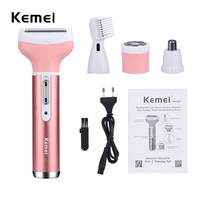 4 In 1 Multifunction Women Electric Shaver Wool Device Lady Rechargeable Razor Female Epilator Eyebrow Nose