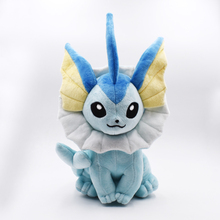 High Quality 37cm Vaporeon Plush Toy Eevee Plush Doll Soft Toy Classic Plush Toys Christmas Gifts Free Shipping