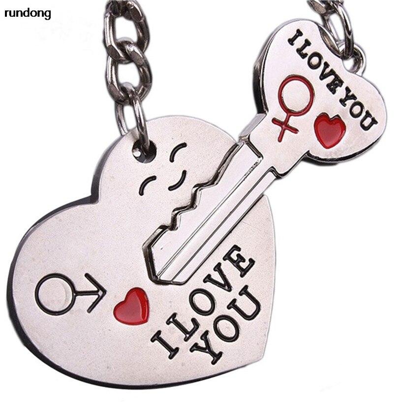 2017 Couple Je T'AIME Coeur Keychain Anneau Porte-clés Porte-clés Amant Romantique Accessoires De Voiture en gros AUG15