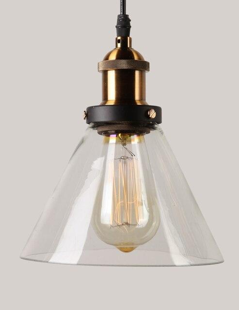 Vintage wisiorek światła szklane lampy wiszące Loft