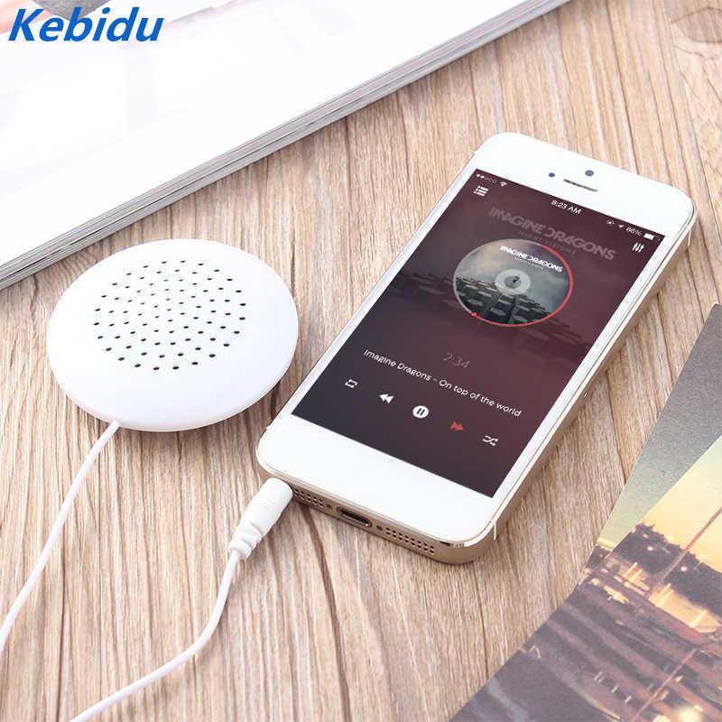 Kebidu almohada portátil altavoz reproductor de música altavoces holgados suave Universal 3,5mm para MP3 MP4 CD iPod Xiaomi SmartPhone