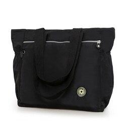 Grande bolsa feminina nova 2017 náilon à prova dwaterproof água bolsa de ombro saco casual breve all-match grande pano moda lazer saco de viagem