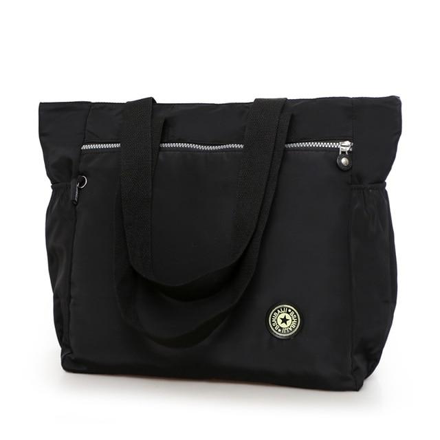 3788967ab110 Women s big handbag New 2017 nylon waterproof shoulder bag casual bag brief  all-match large cloth fashion leisure bag travel bag