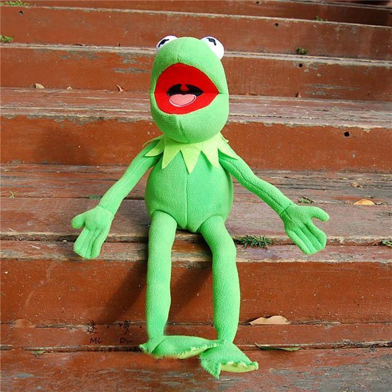 45cm The Muppets Kermit Plush Toys Sesame Street Frog Stuffed Animal Doll Kids Holiday Gift