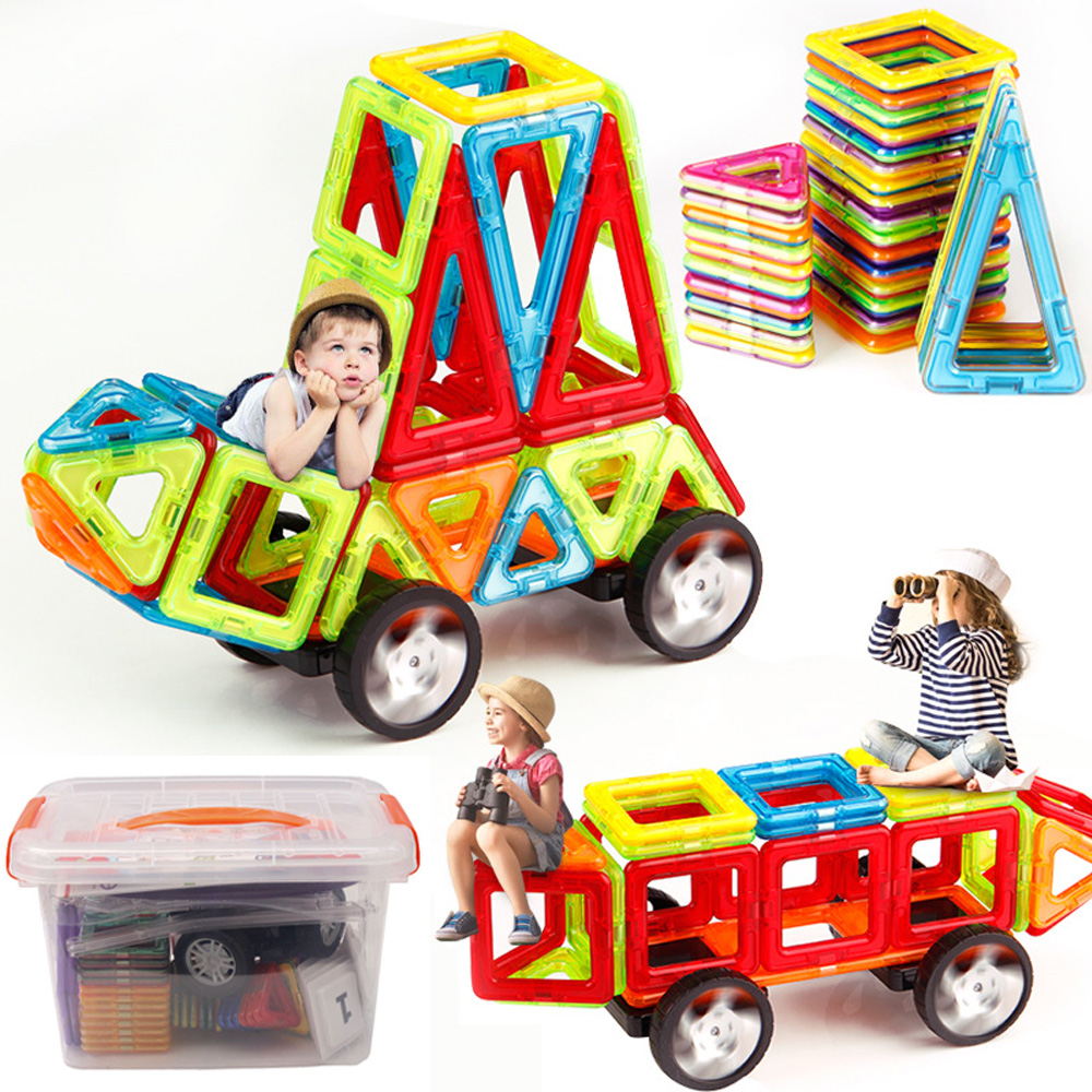 110pcs Magnetic Building Blocks Model & Building Construction Toys Magnetic Designer Educational Toys for Children Gifts
