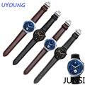 Alta qualidade pulseira de couro genuíno para huawei watch 22*18mm duplo butterfly botão nova ferramenta grátis