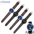 High Quality Genuine Leather Watchband For Huawei Watch 22*18mm Double Butterfly Button New Free Tool
