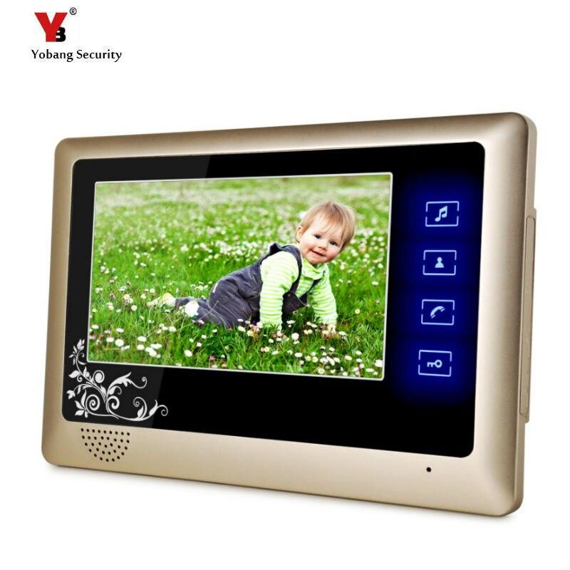 Yobang Security 7 indoor monitor with touch button for video door phone Door Intercom indoor screen not have outdoor camera