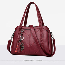 Womens shoulder bag leather high-grade material trendy fashion British wind multi-function large capacity design