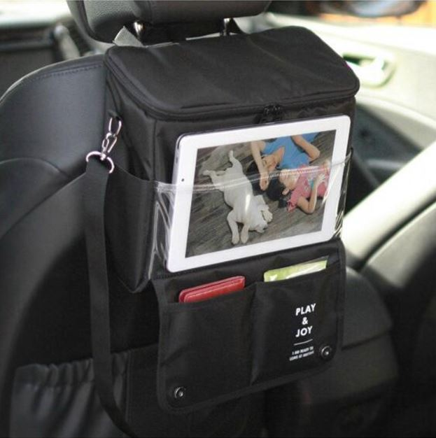 Car Back Seat Thermos Bag Food Lunch Insulation Storage Bag Waterproof tote Mummy Bag <font><b>Cooler</b></font> Beam Lunch Box Feeding Bottle Bag
