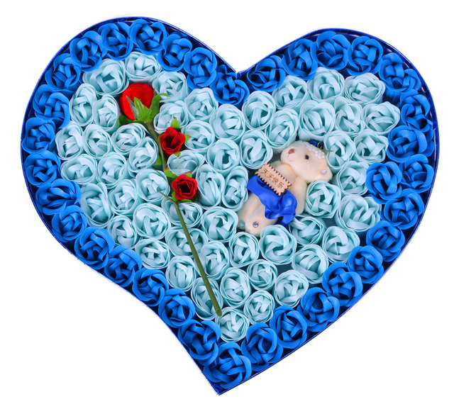 Valentines Day Gift Ideas To Send His Wife A Birthday Girlfriend Practical Blue Rose Soap Flower
