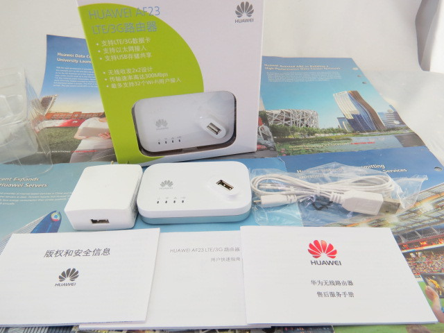 Unlocked Huawei AF23 4G LTE 3G Dongle Wireless Router Sharing Dock Ethernet Hotspot Access Point Wi