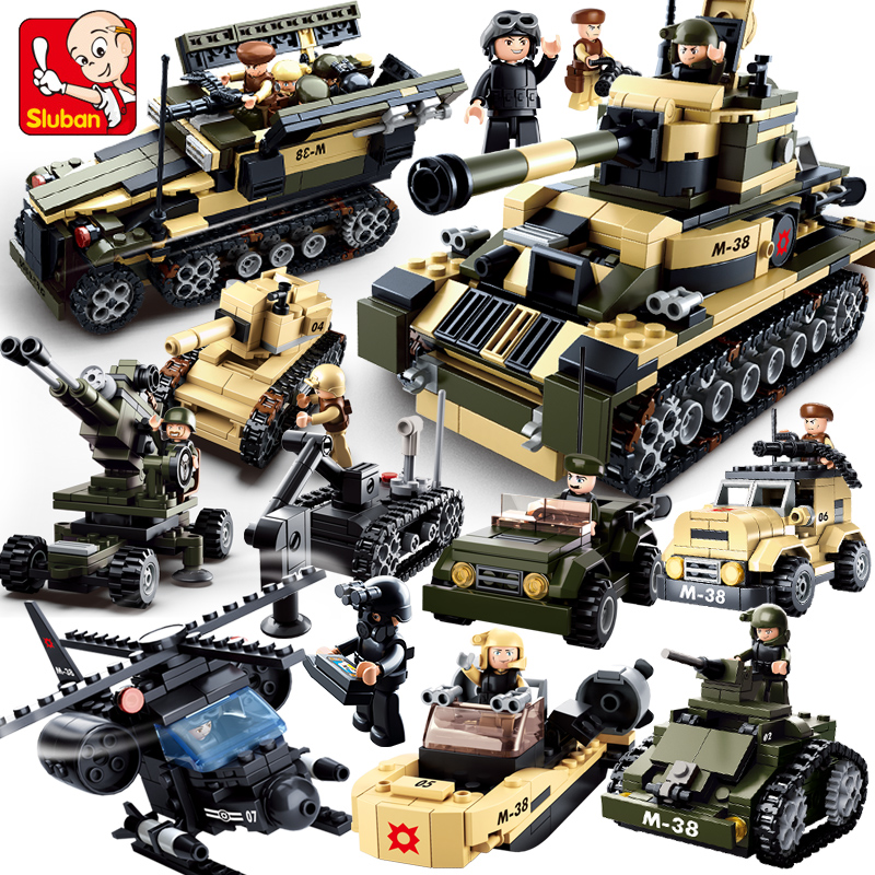 Model building kits compatible with lego Military tank 928 pcs B0587 8 in 1 3D blocks Educational model building toys hobbies цена