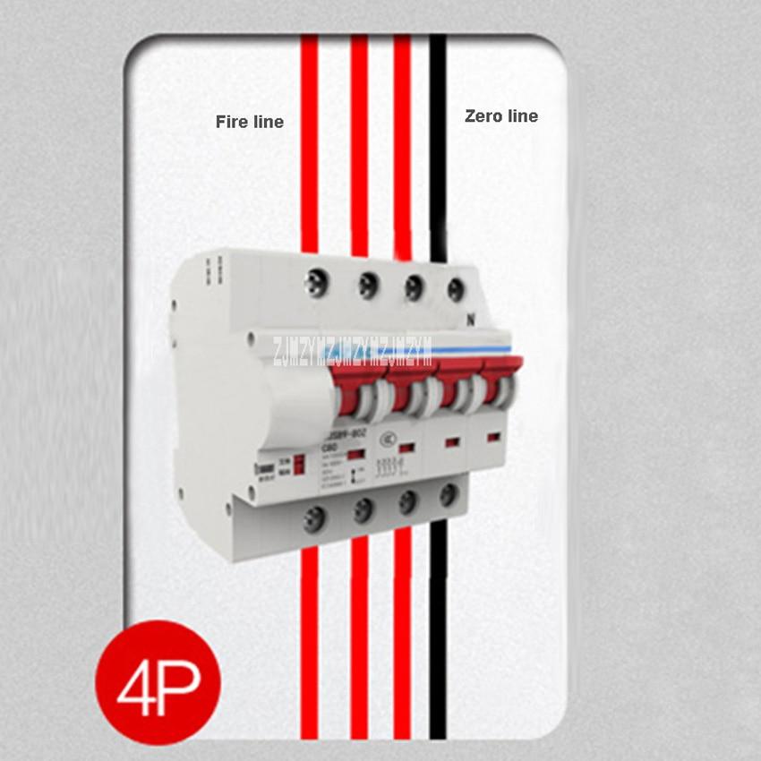 Nouveau Smart Home télécommande sans fil interrupteur de distribution verrouillage automatique Intelligent perte de Circuit WIFI disjoncteur 4 P 16A-125A 400 V