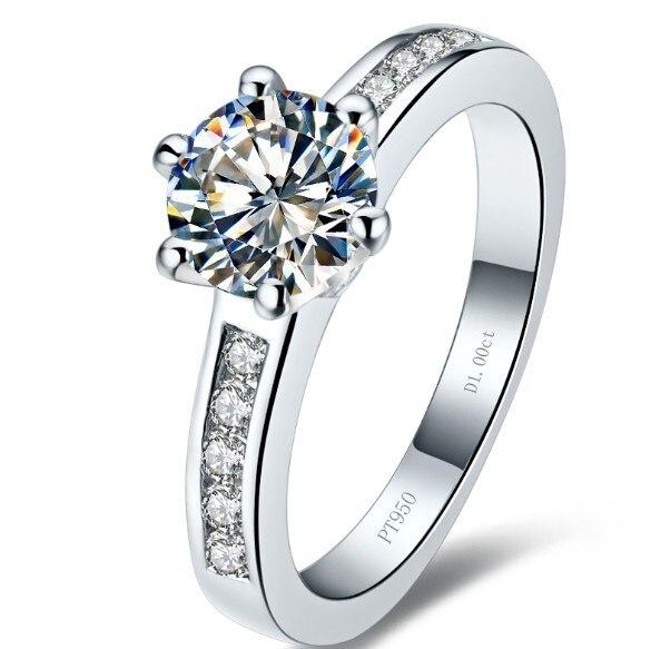 THREEMAN 750 твердого золота обручальное кольцо 1CT взаимодействие синтетических алмазов Кольцо женское белое золото свадебные ювелирные изделия бренд