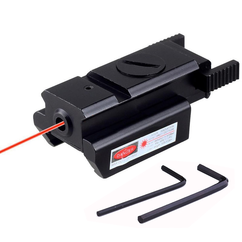 Tactical Red Dot Laser Sight Picatinny Weaver Rail 20mm / <font><b>11mm</b></font> For Pistol Shootgun Hunting Riflescopes FS