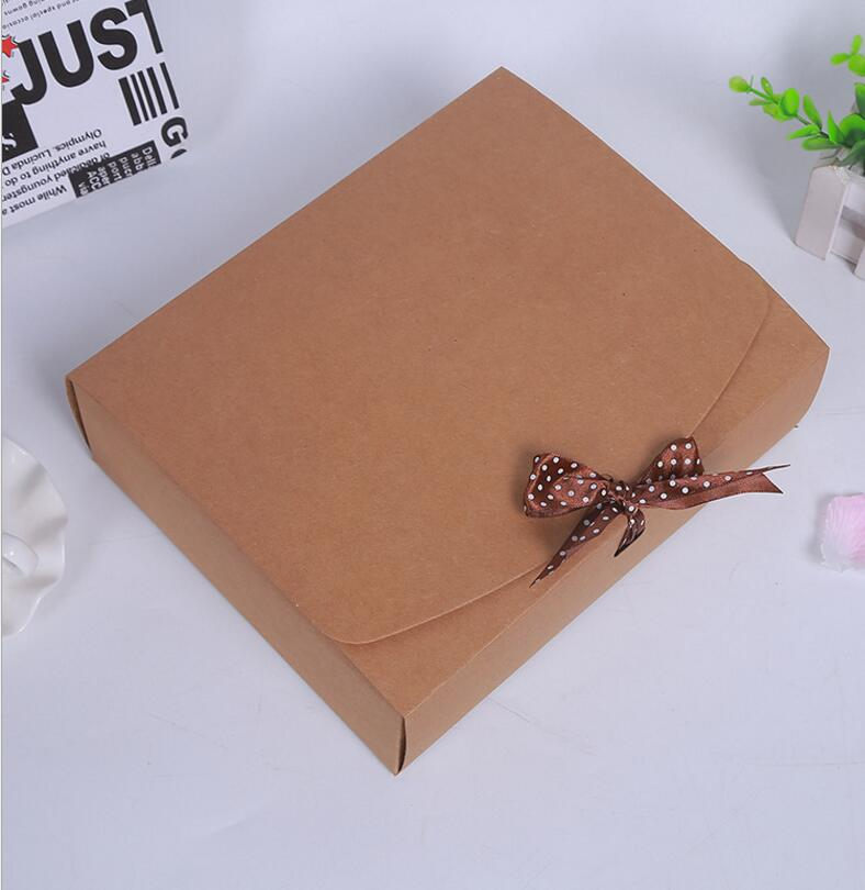 24 5 20 7cm Large cardboard Gift packaging paper craft box wedding Kraft gift cardboard paper